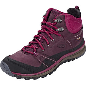 Keen Terradora Leather WP Mid Shoes Women Wine/Rododendron